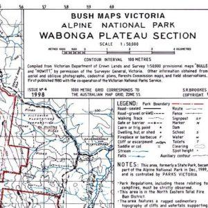Wabonga Plateau Section Alpine National Park - Bush Maps Victoria